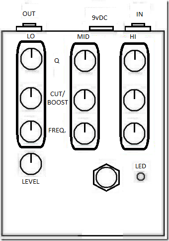 B Y O C  Parametric EQ Pre-built Pedal   Axe    And You Shall Receive